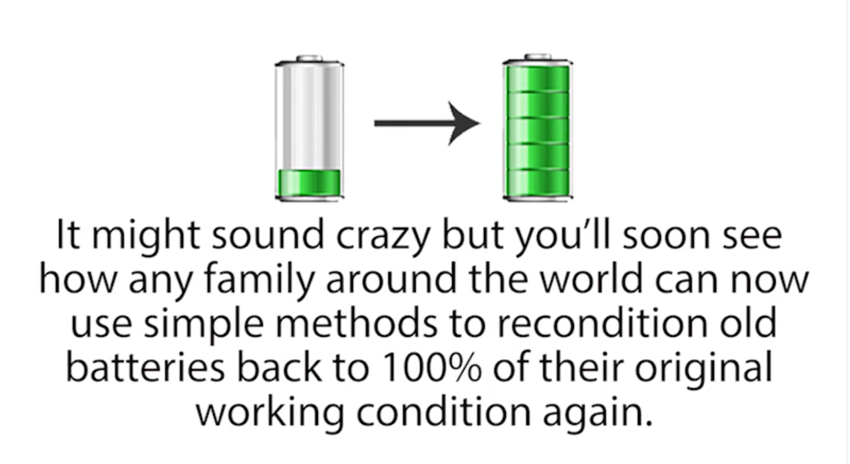 People around the world are using this simple methods to recondition batteries at home