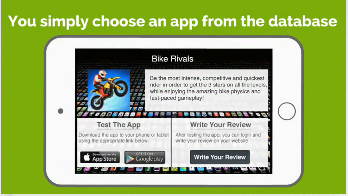 You can simply choose any kinds of apps to test