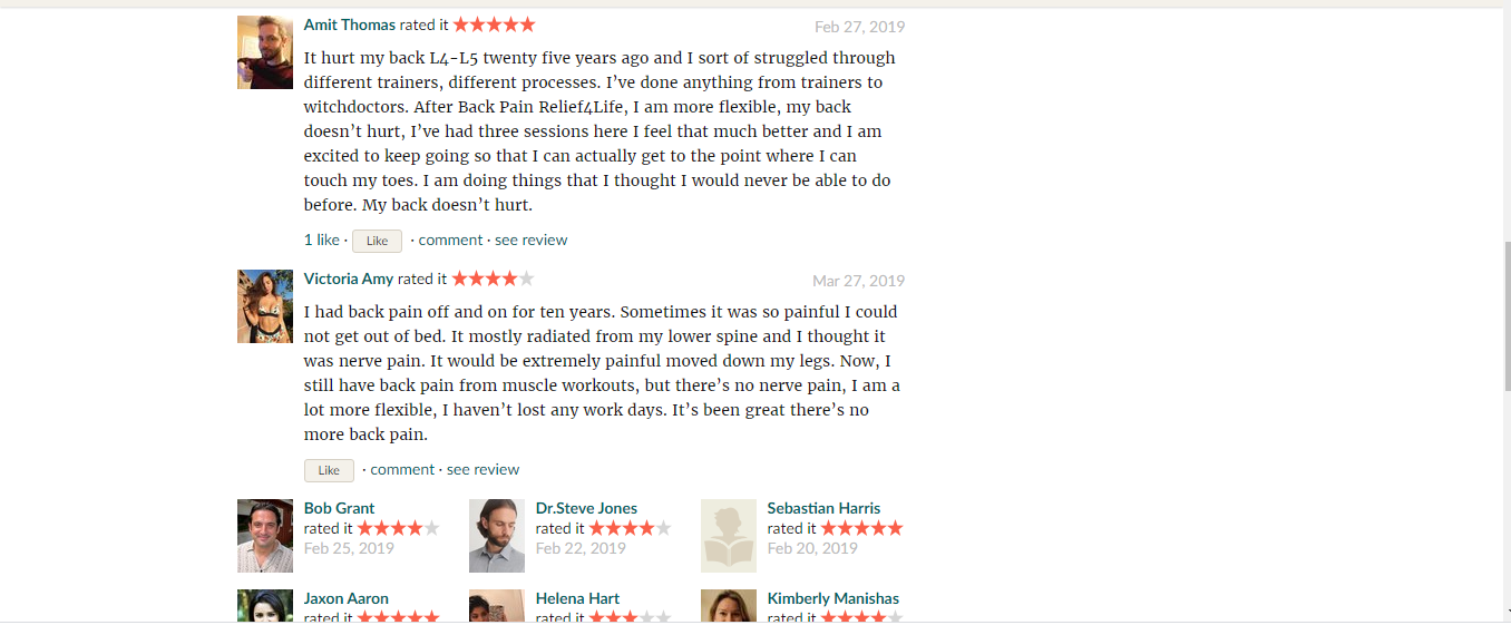 In the Goodreads site, - Feedback