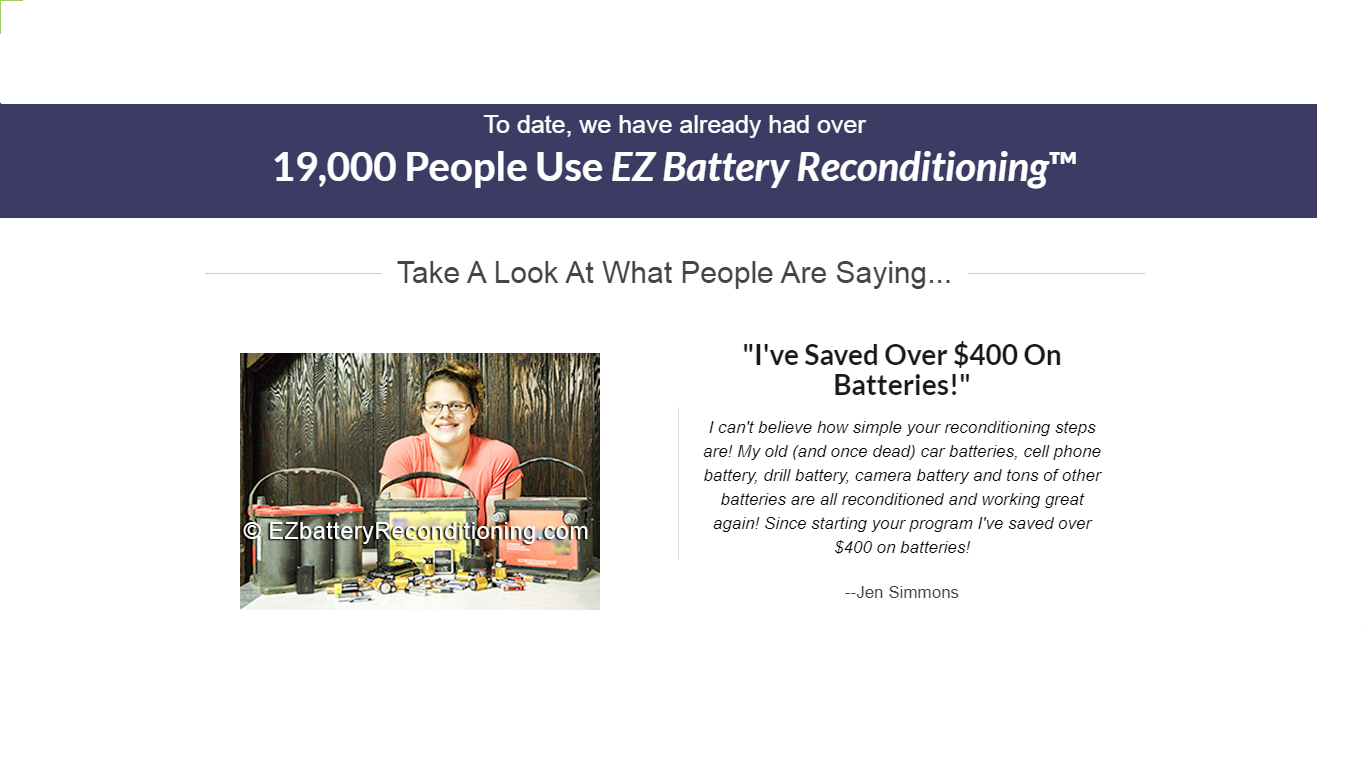EZ battery reconditioning - feedbacks