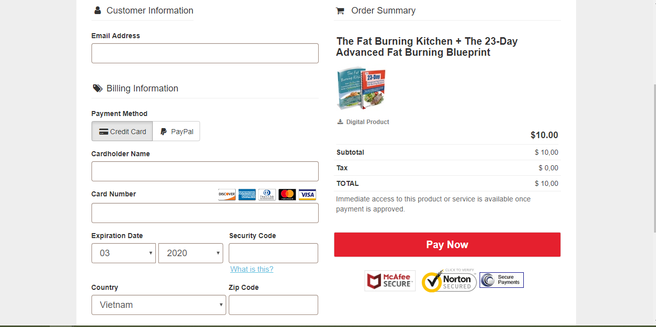 price - Fat Burning Kitchen Review
