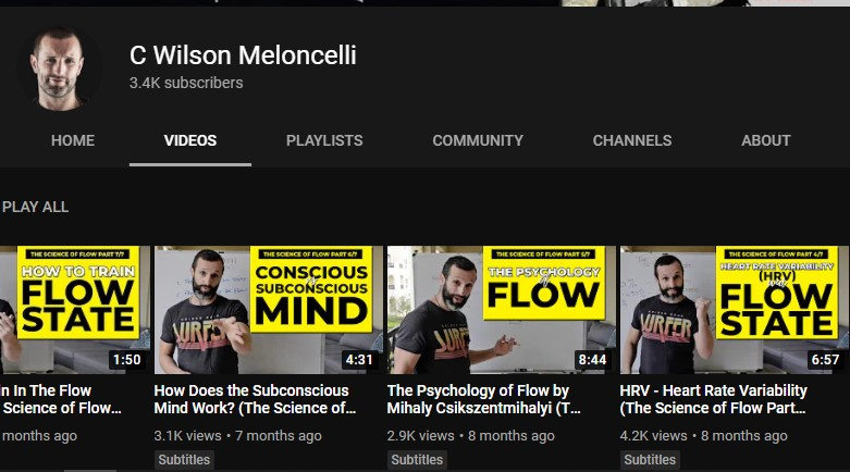 Youtube channel of Wilson Meloncelli