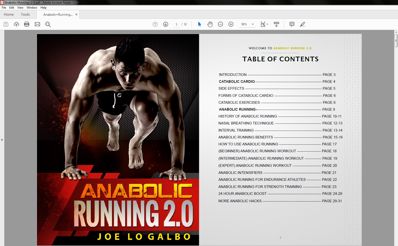 Anabolic Running review- CONTENTS