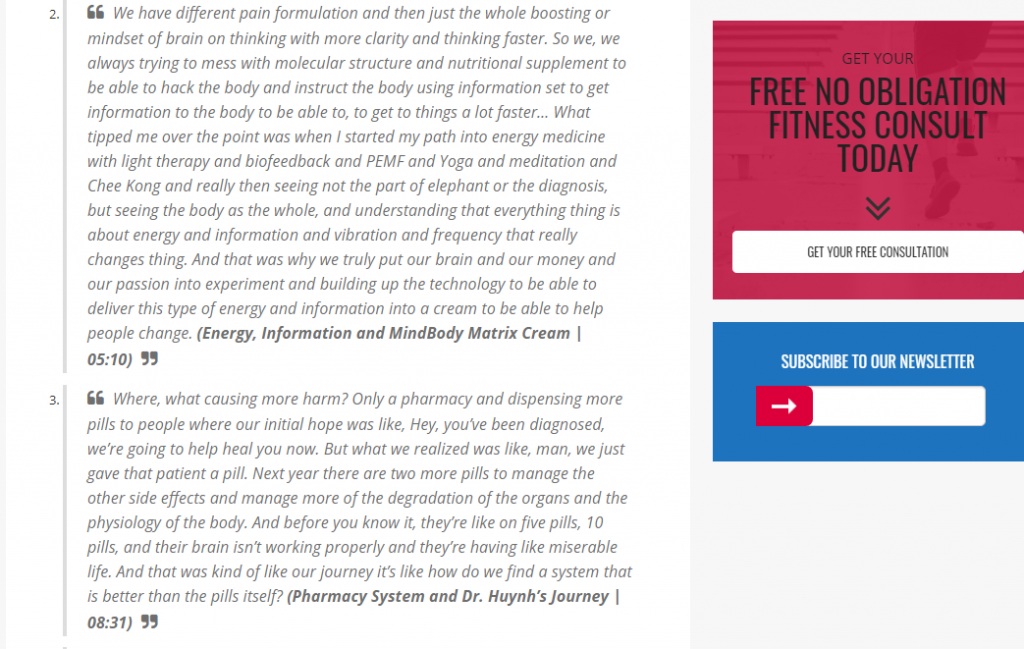 Dr. Huynh's interview - MindBody Matrix Pain Cream Review