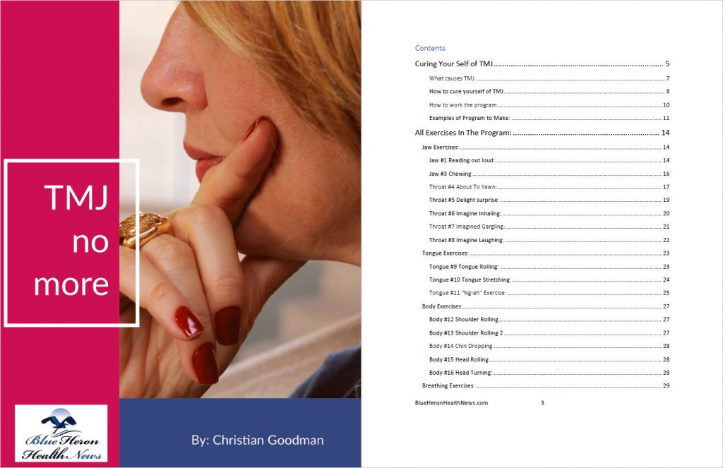 TMJ solution - Table of content - The TMJ Solution by Christian Goodman Review