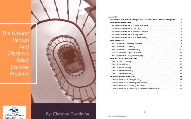 The Vertigo And Dizziness program - Table of contents
