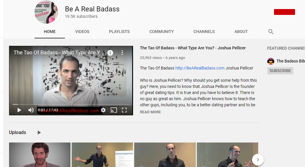 Tao Of Badass Review- author youtube