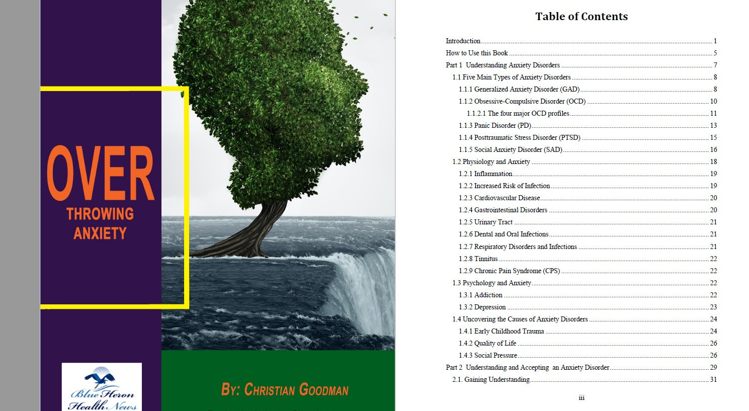 Overthrowing Anxiety Table of contents