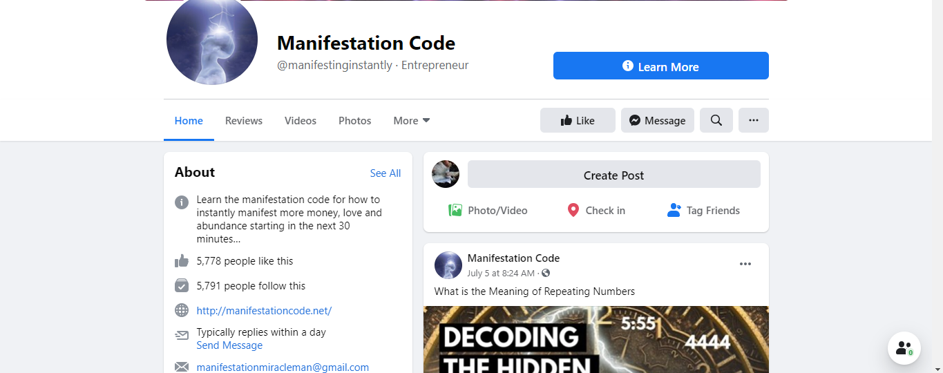 Manifestation Code Review- author