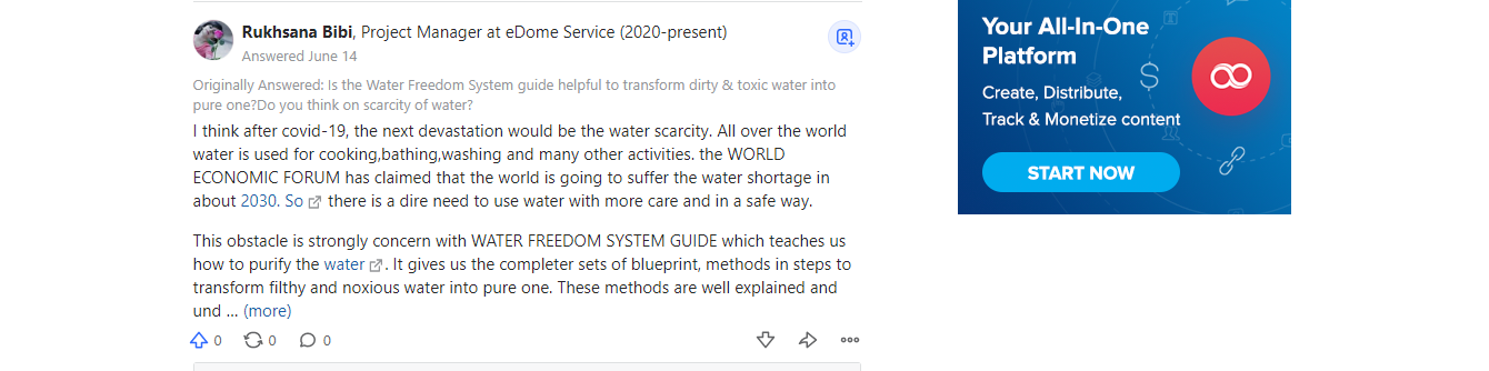 Water Freedom System Review feedback 2