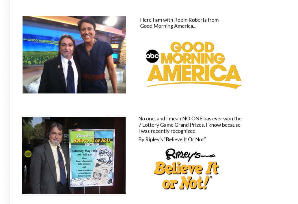 Richard Lustig with Robin Roberts from Good Morning America