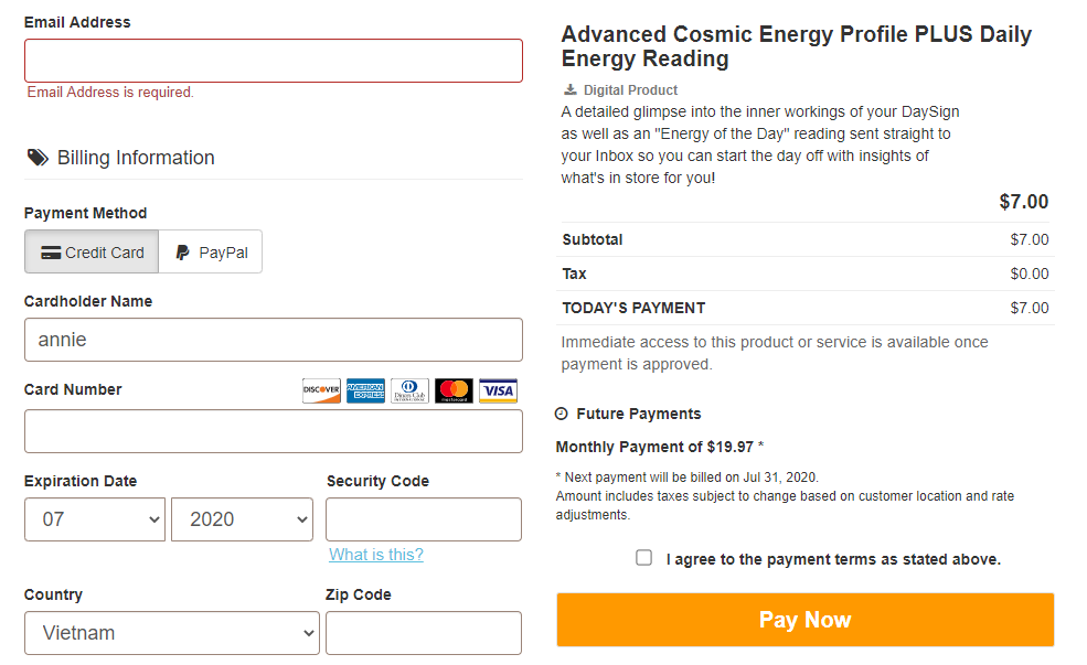 Cosmic energy profile review